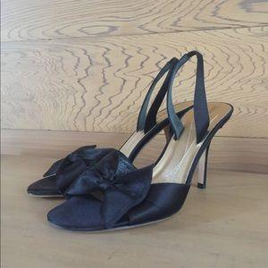 KATE SPADE satin slingback heels size 7
